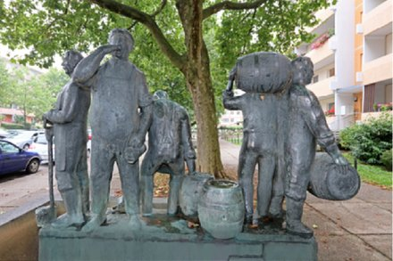 Mauritius: Brauerei: Heimat: Zwickau: Bierbrauerbrunnen
